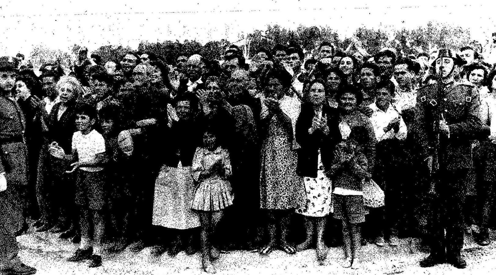 Visita de Franco a el Vacie en 1961